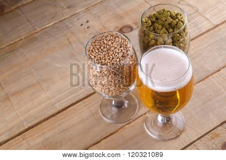 Light Beer And Ingredients