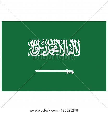 A flag of Saudi Arabia