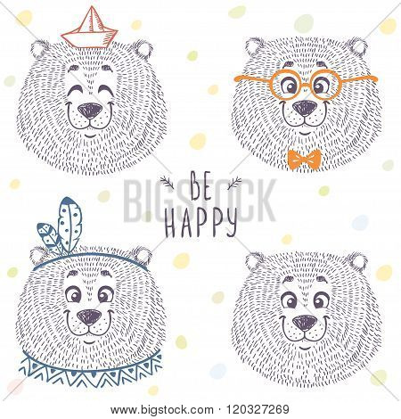 bear cute set