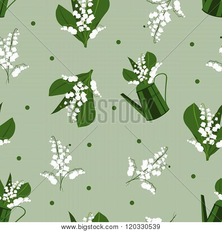 seamless pattern  lily of te valley