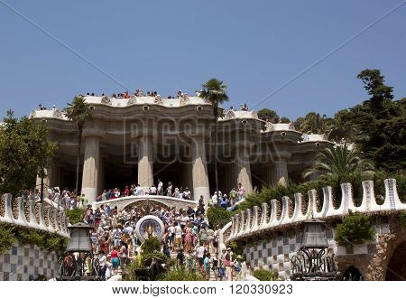 Guell Park Attract Many Tourists