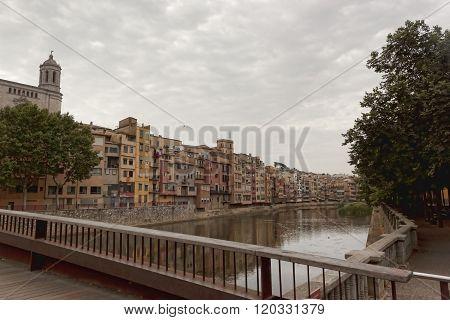 Quay Girona. View From Bridge