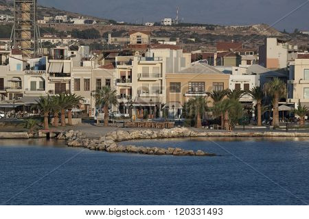 Promenade Of Rethymno, View From The Pier In The Early Morning