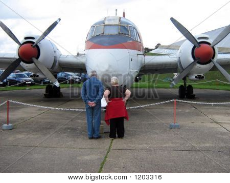 Couple Reading Discription Of Aircraftpropellors