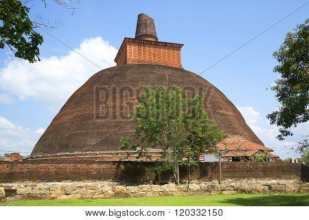 Jetavana Dagoba closeup. Anuradhapura, Sri Lanka