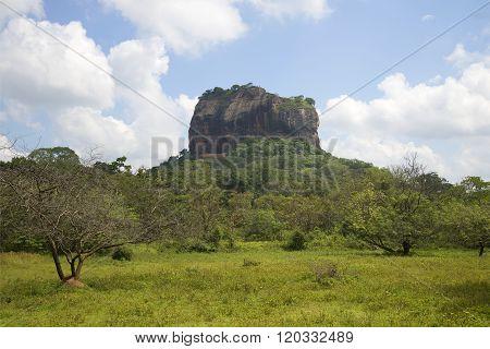 Views of mount Sigiriya. Sri Lanka