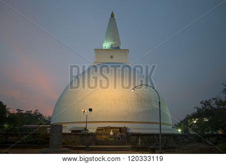 View of the Dagoba in the evening. Anuradhapura, Sri Lanka