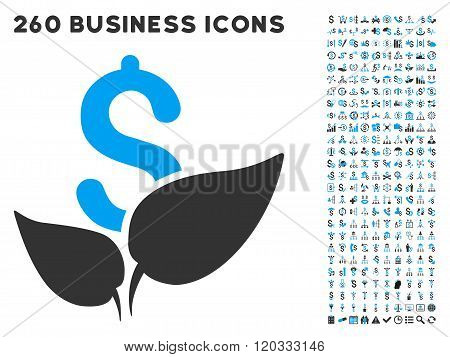 Agriculture Startup Icon with Flat Vector Set