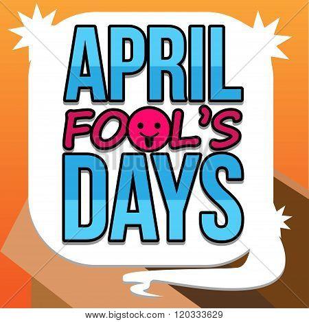 April Fool Days Text Vector