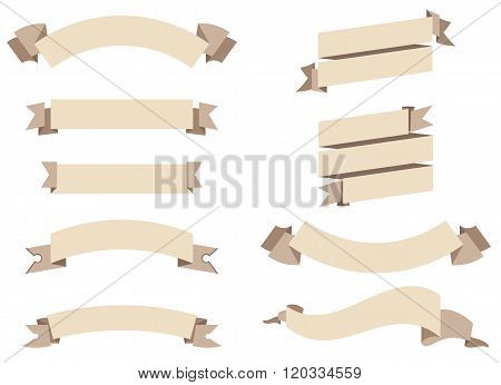 flat ribbons set