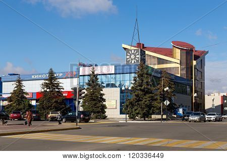 Building of a shopping center. Anna. Russia