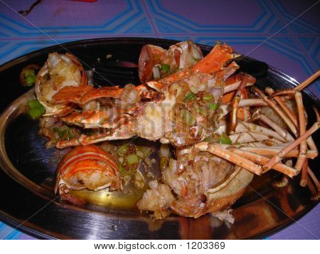 Chinese Stir Fried Butter Lobster