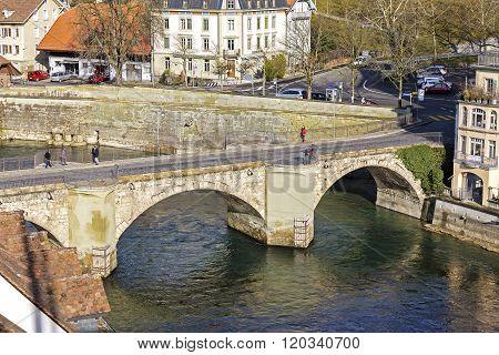 Lower Gate Bridge In Bern, Switzerland