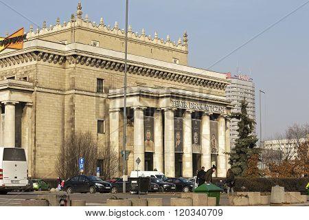 Massive Entrance To The Dramatic Theatre, Warsaw