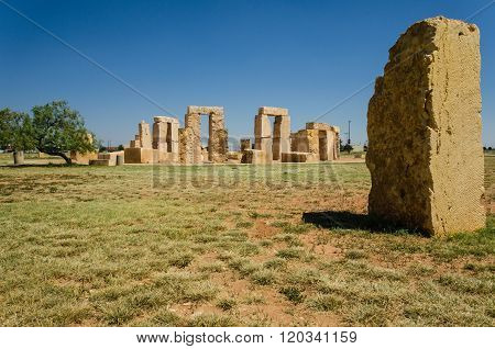 Stonehenge replica at the University of Texas in Odessa.
