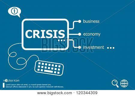 Crisis Word Cloud, Business Concept
