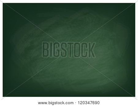 Horizontal Texture of The Green Chalkboard Background