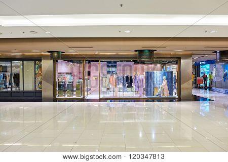BANGKOK, THAILAND - JUNE 21, 2015: interior of shopping center in Bangkok. Shopping centers such as Siam Paragon, Central World Plaza, Emperium and Gaysorn become shopping Mecca for shopaholics