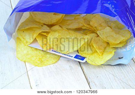 Potato Chips In Bag..