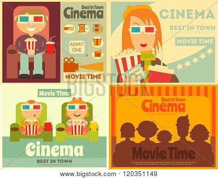 Cinema Posters Set