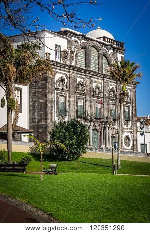 Local minicipality building in Ponta Delgada, Sao Miguel, Azores, Portugal.