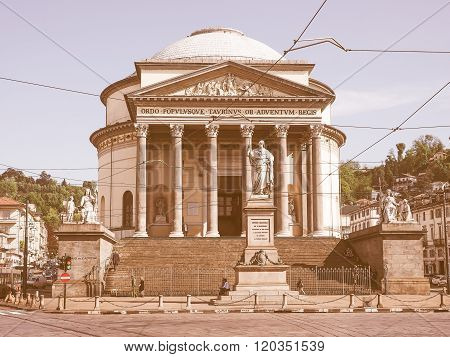 Gran Madre Church Turin Vintage