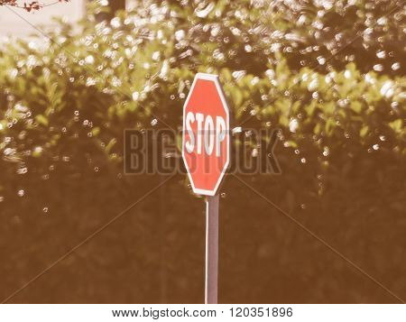 Stop Sign Vintage