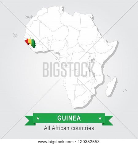 Guinea. All the countries of Africa.