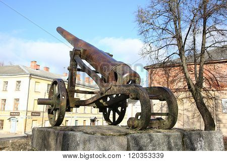 Cannon Of 19Th Century In Daugavpils Fortress
