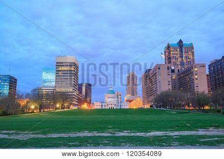 City Of St. Louis Skyline. Image Of St. Louis Downtown