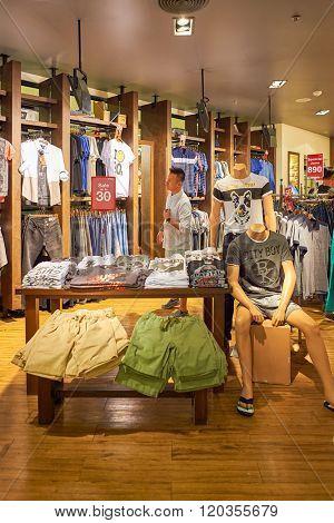 BANGKOK, THAILAND - JUNE 21, 2015: shopping center interior. Shopping centers such as Siam Paragon, Central World Plaza, Emperium, Gaysorn and Central Chidlom become shopping Mecca for shopaholics
