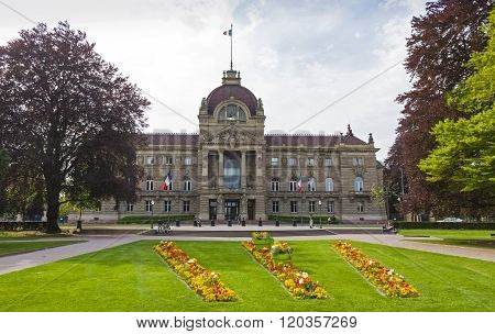 Building Of Palace Of The Rhine In Strasbourg, France