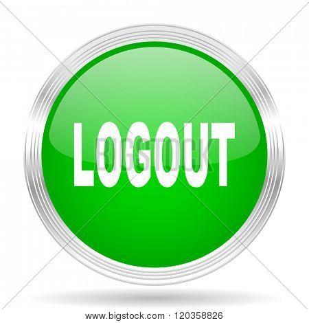 logout green modern design web glossy icon