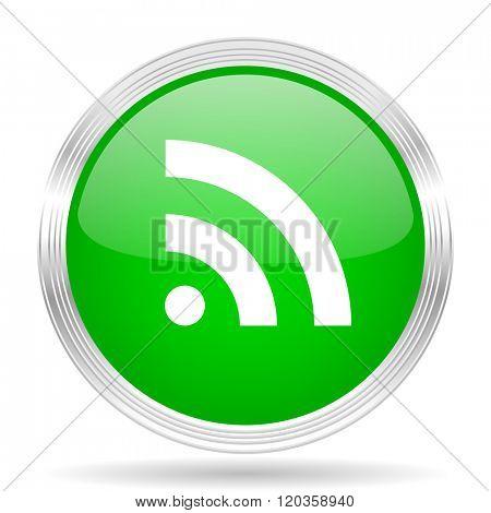rss green modern design web glossy icon