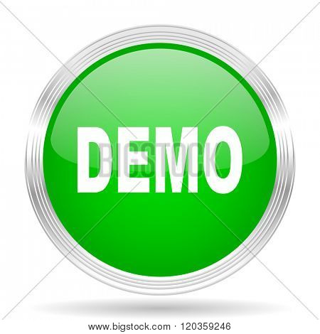 demo green modern design web glossy icon