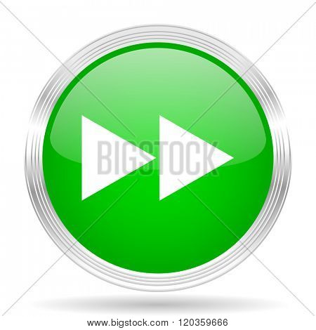 rewind green modern design web glossy icon