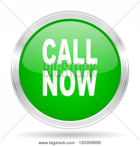 call now green modern design web glossy icon