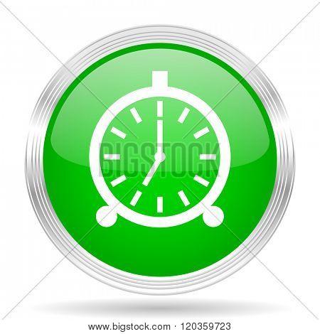 alarm green modern design web glossy icon