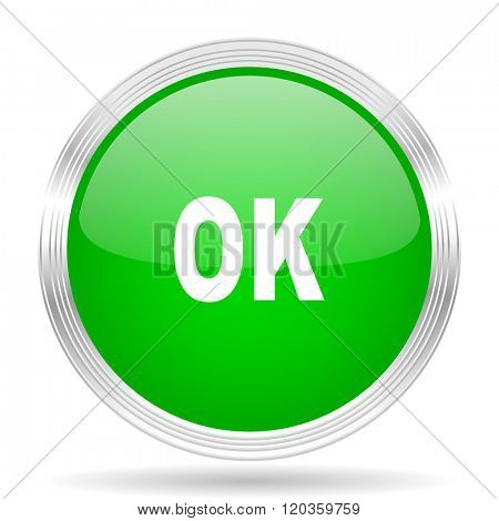 ok green modern design web glossy icon