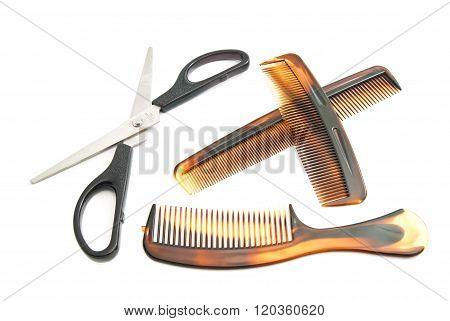 Scissors And Plastic Combs