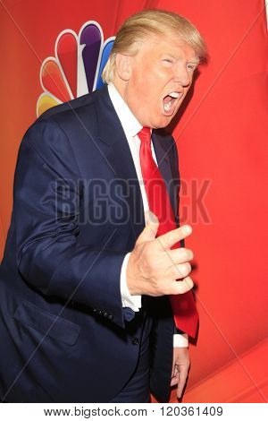 PASADENA, CA - JAN 16: Donald Trump at the NBCUNIVERSAL 2015 Winter TCA Press Tour at The Langham Huntington Hotel on January 16, 2015 in Pasadena, CA