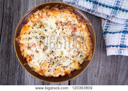 Baked Pasta Cheese Gratin