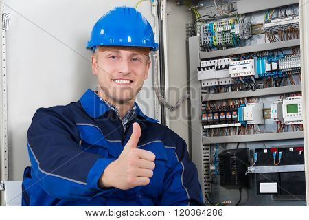 Portrait Of A Happy Young Male Electrician