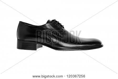 Leather shoe isolated on white background