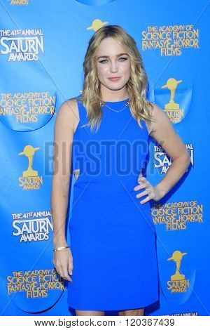 BURBANK - JUN 25: Caity Lotz at the 41st Annual Saturn Awards at The Castaway on June 25, 2015 in Burbank, California,