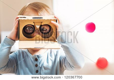 Toddler Using A New Virtual Reality Headset