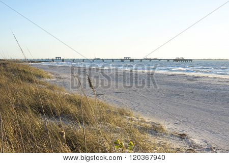 Fort Desoto Gulf Fishing Pier And Beach