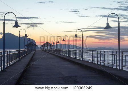 Khlong Kian Pier At Dawn