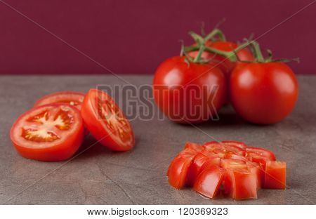 Truss Tomatoes On Marble