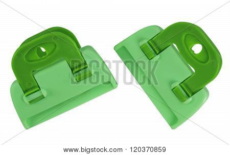 Clamps Isolated - Green